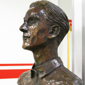 D. ANSELMO LÓPEZ, founder of Real Sporting de Gijon 1905. Bronze and corten steel. 2017